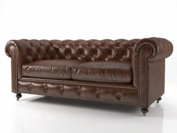 kensington leather sofa restoration hardware how much do american sofas cost 72 the petite 3d modell 2