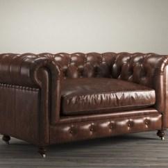 Kensington Leather Sofa Restoration Hardware Heated Throw 60 3d Model 1