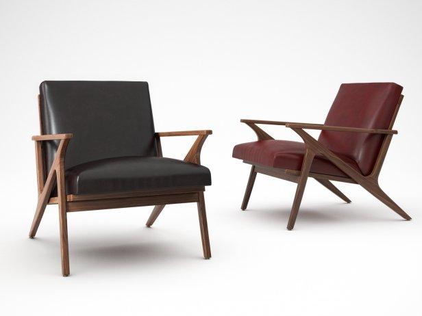 Cavett Chair 3d model  CrateBarrel USA