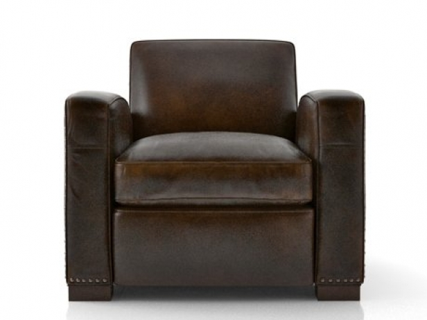 Restoration Hardware Library Leather Club Chairs