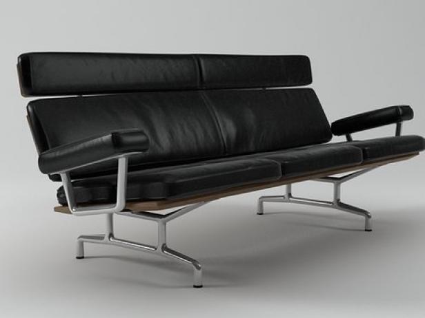 eames sofa 3 seat organic canada seater 3d model herman miller