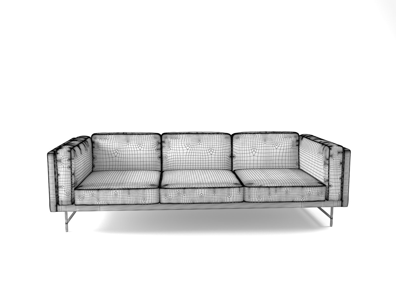 blu dot bank sofa italian furniture in miami 3 seater modello 3d