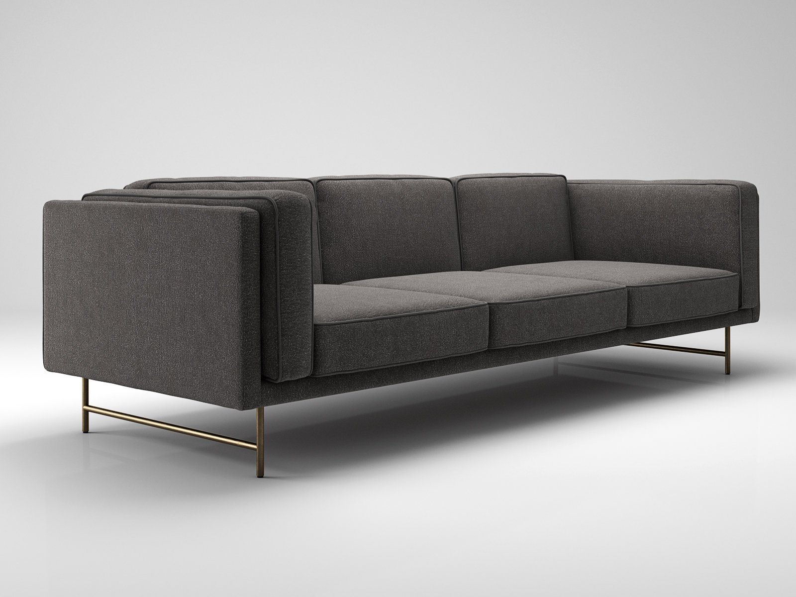 blu dot bank sofa modern beds sydney 3 seater modello 3d