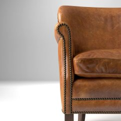 Professor Chair Restoration Hardware Office Yoga Ball 39s Leather With Nailheads 3d Model