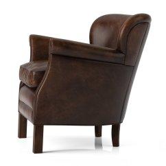 Professor Chair Restoration Hardware Massage Relief 39s Leather 3d Model