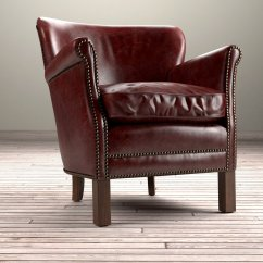 Professor Chair Restoration Hardware Herman Miller Aeron Task Review 39s Leather With Nailheads 3d Model