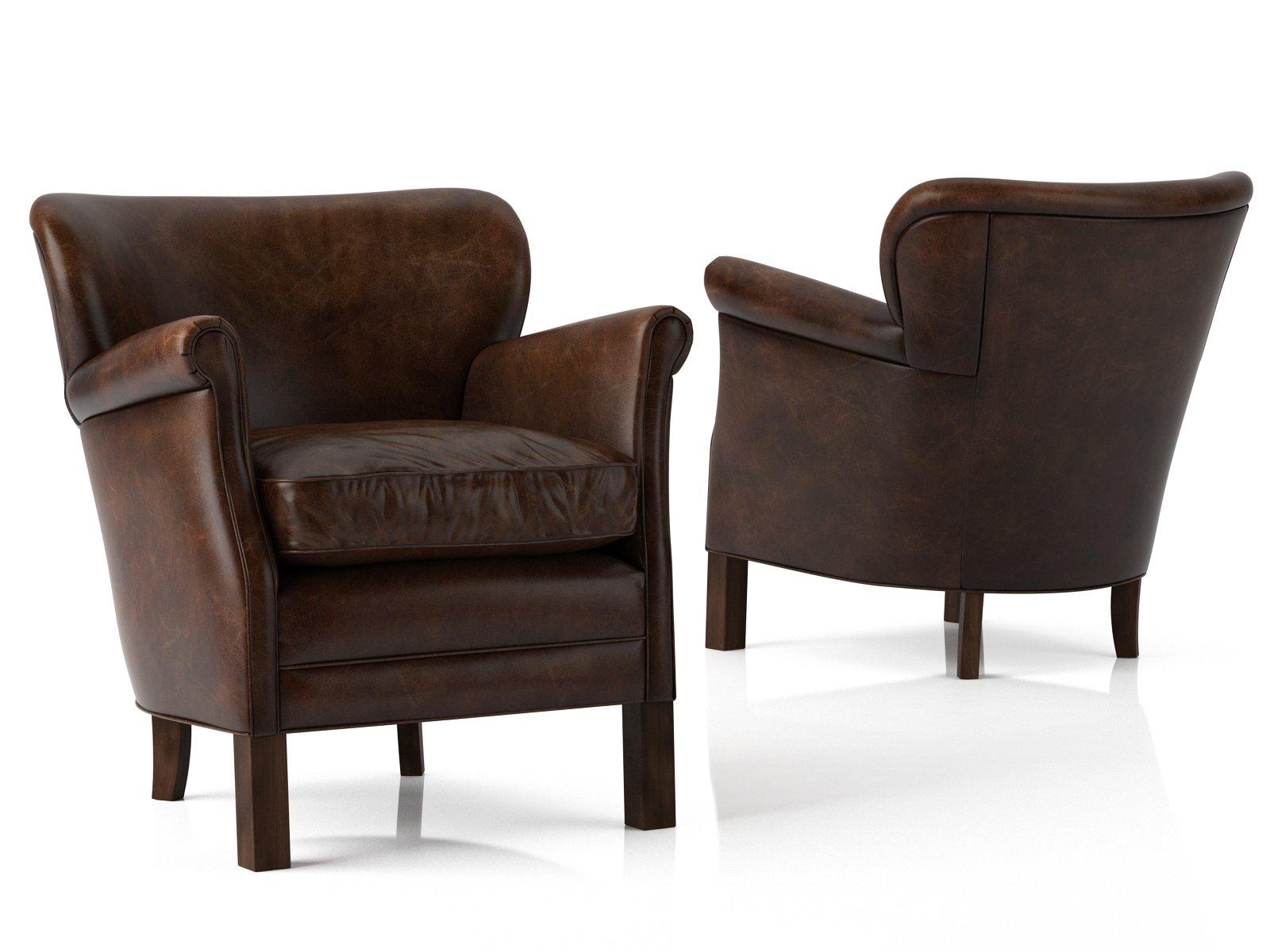 professor chair restoration hardware design set 39s leather 3d model