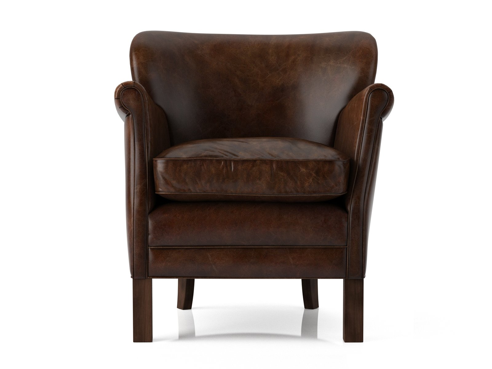 Restoration Hardware Leather Chairs Professor 39s Leather Chair 3d Model Restoration Hardware