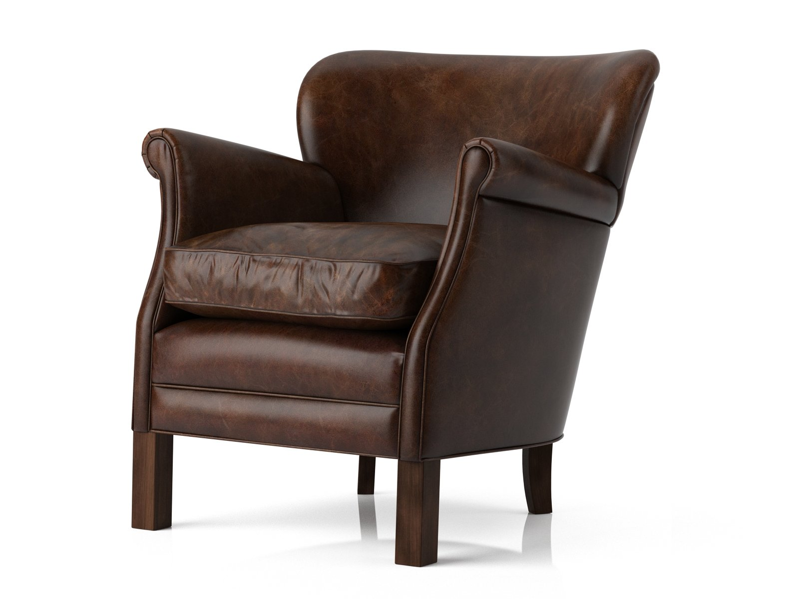 professor chair restoration hardware living room accent chairs with ottomans 39s leather 3d model