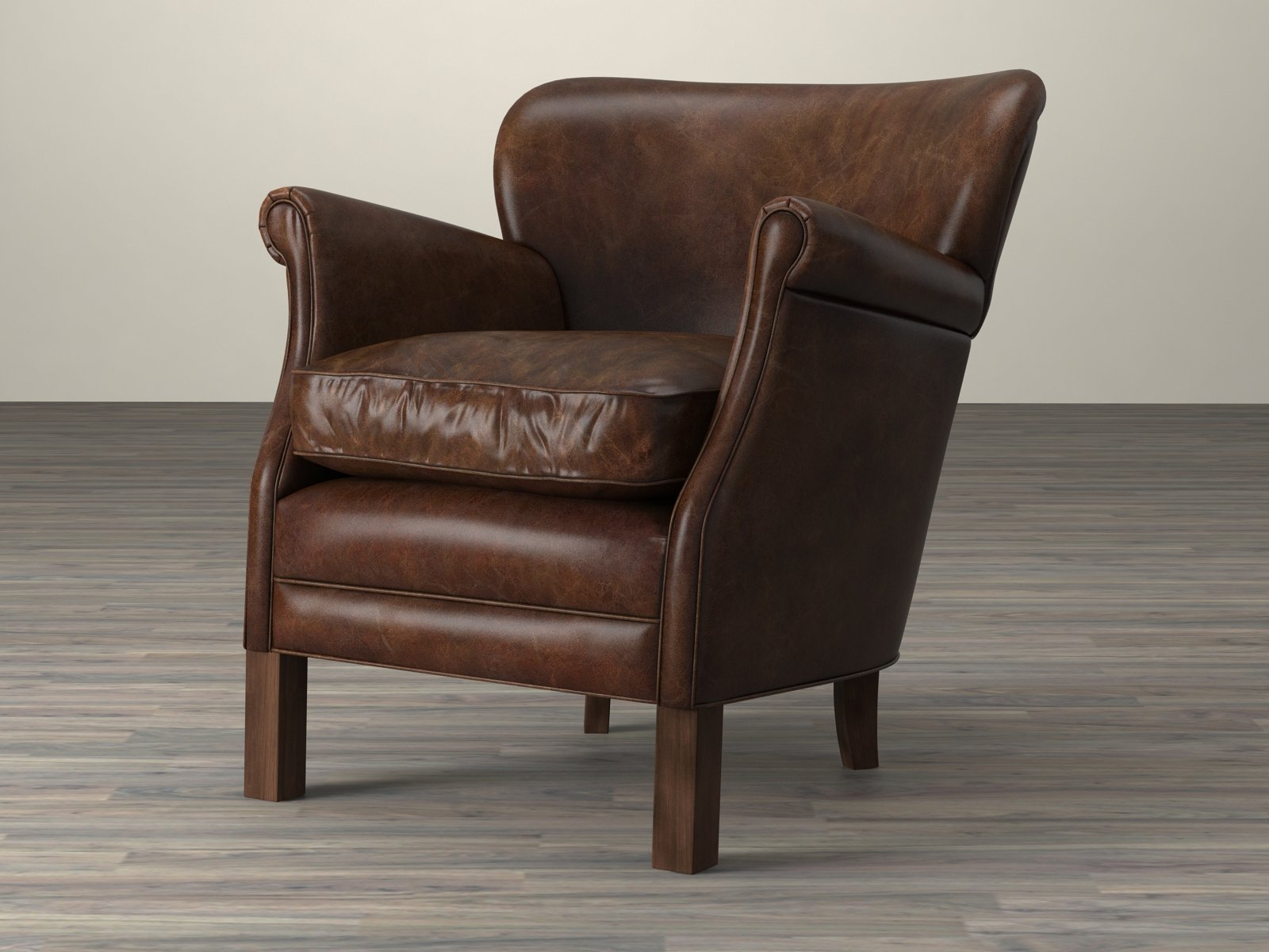 professor chair restoration hardware black covers for folding chairs 39s leather 3d model