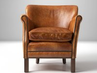 Professor's Leather Chair With Nailheads 3d model ...