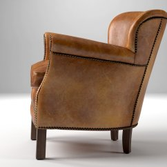 Professor Chair Restoration Hardware Copa Beach Cup Holder Replacement 39s Leather With Nailheads 3d Model
