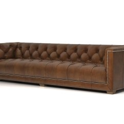 Savoy Leather Sofa Restoration Hardware Sofatti Saddle 3d Model