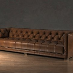Savoy Leather Sofa Restoration Hardware Sleeper For Small Spaces 3d Model