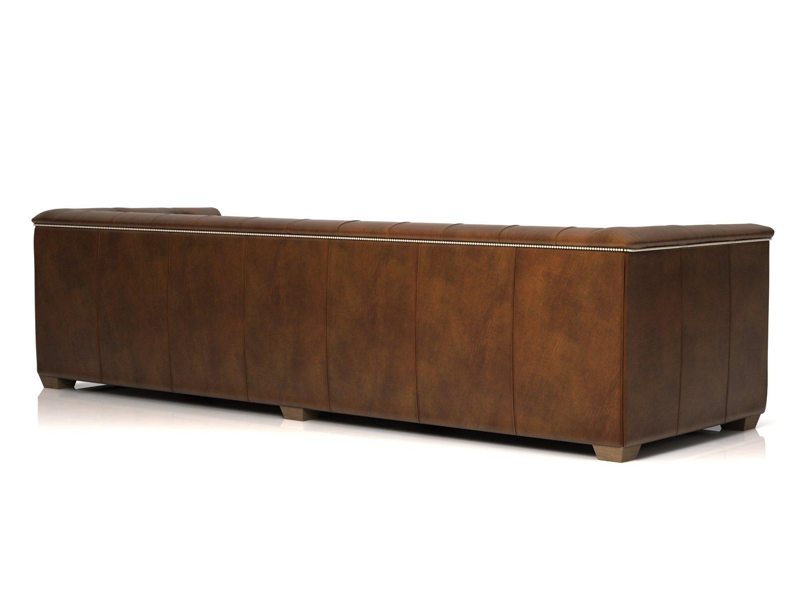 savoy leather sofa restoration hardware light brown bed 3d model