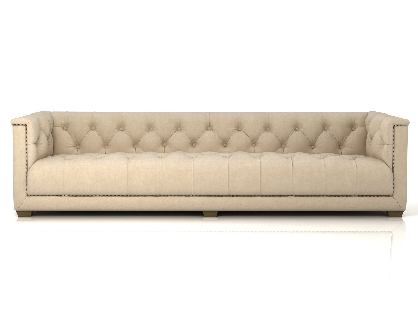 savoy leather sofa restoration hardware average cost of bed 3d model