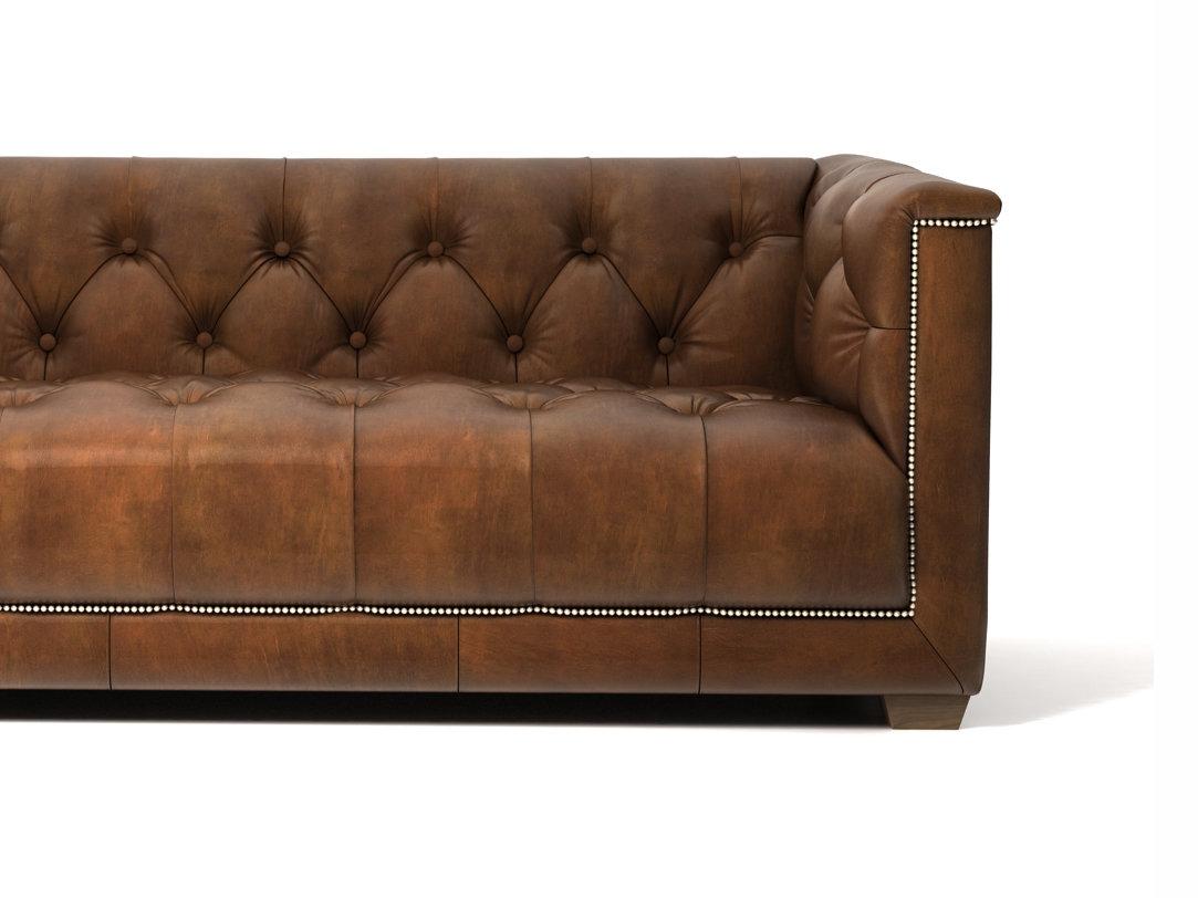 savoy leather sofa restoration hardware laura ashley rochester 6 39 3d model