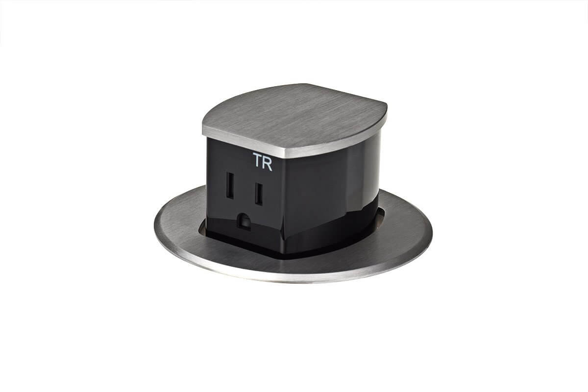 kitchen power grommet island with cabinets 3rings cool integrated countertop outlets