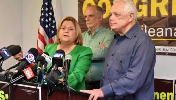 La congresista Ileana Ros Lehtinen junto a su esposo Dexter Lehtinen