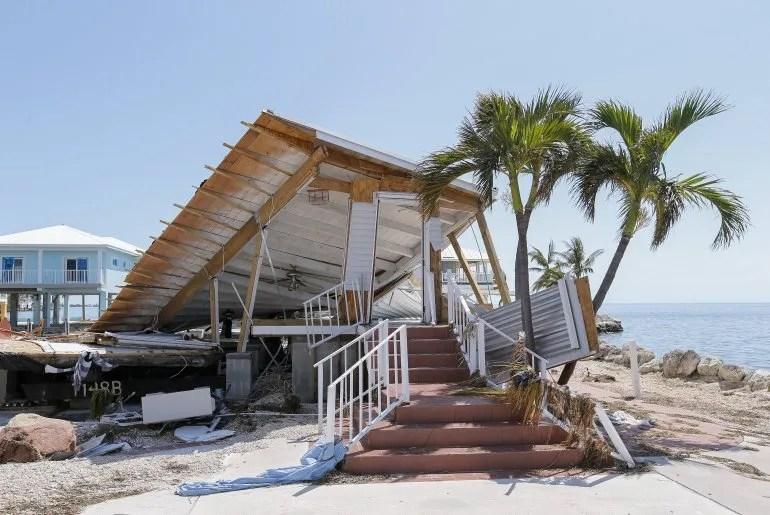 <div><p> Fotografía de una casa destruida tras el paso del huracán Irma en Los Cayos de Florida, Maratón, (Estados Unidos). </p></div><div><p></p></div>