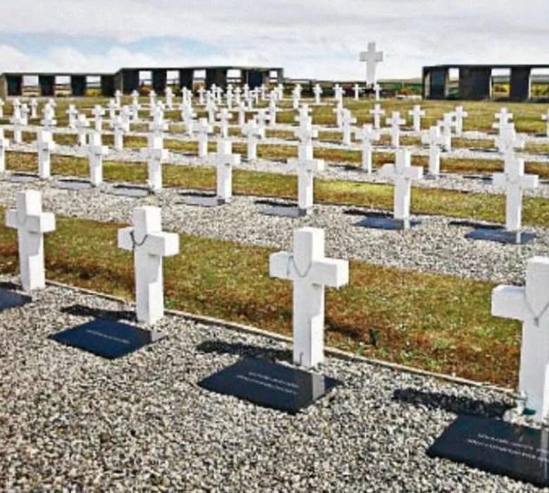 El cementerio de Darwin en las islas Malvinas