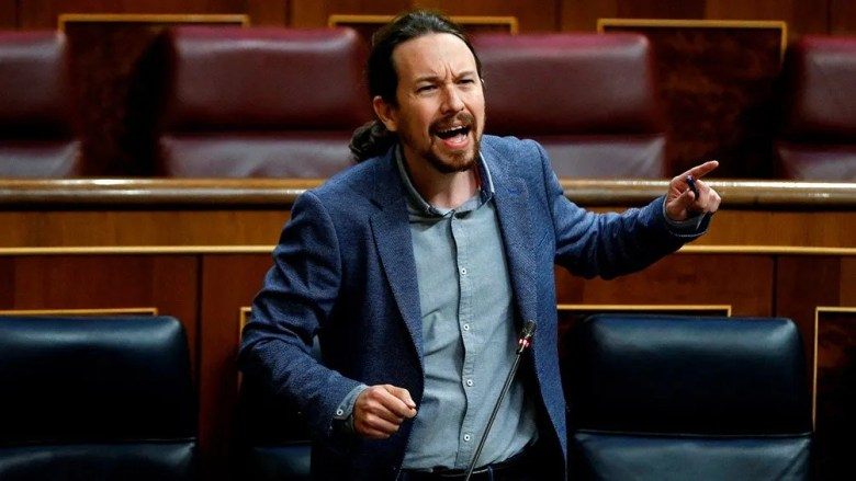 España: Pablo Iglesias, líder de izquierda.