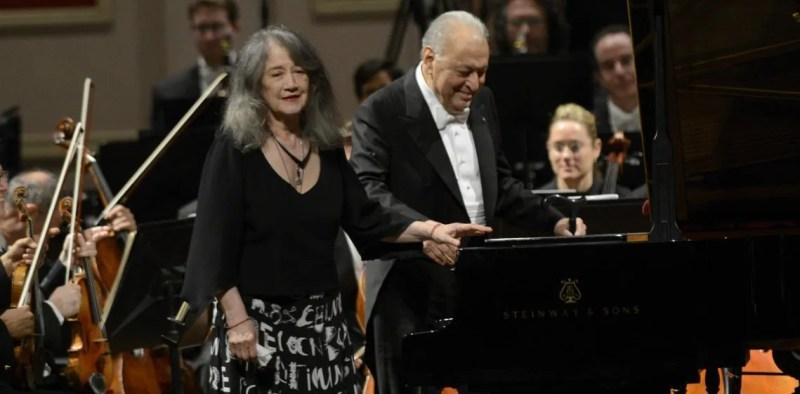 Martha Argerich junto a Zubin Mehta