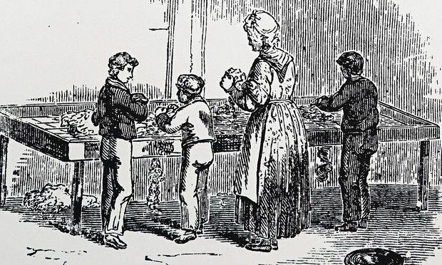 Illustration von Kinderarbeit