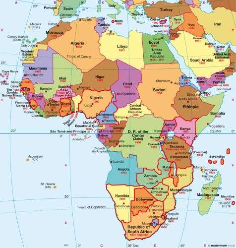 Maps Africa Political map Diercke International Atlas