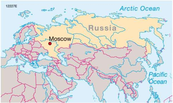 Maps Moscow Russia39s centre of power Diercke