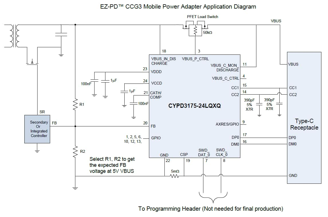 hight resolution of  ccg3pa pi usb type c ac power adapter block diagram