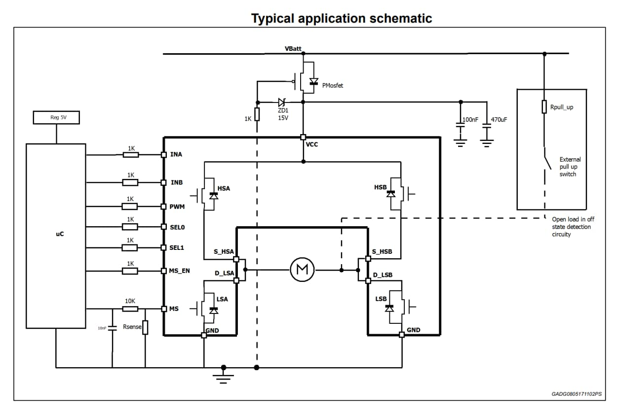 hight resolution of  ev vnh7040ay application circuit