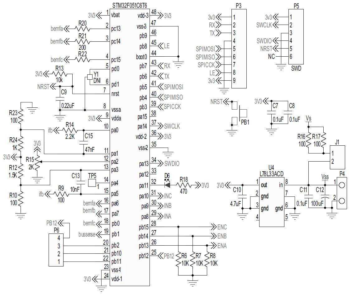 Steval Ihm043v1 2a 7 42v 3 Ph Sensorless Pmsm