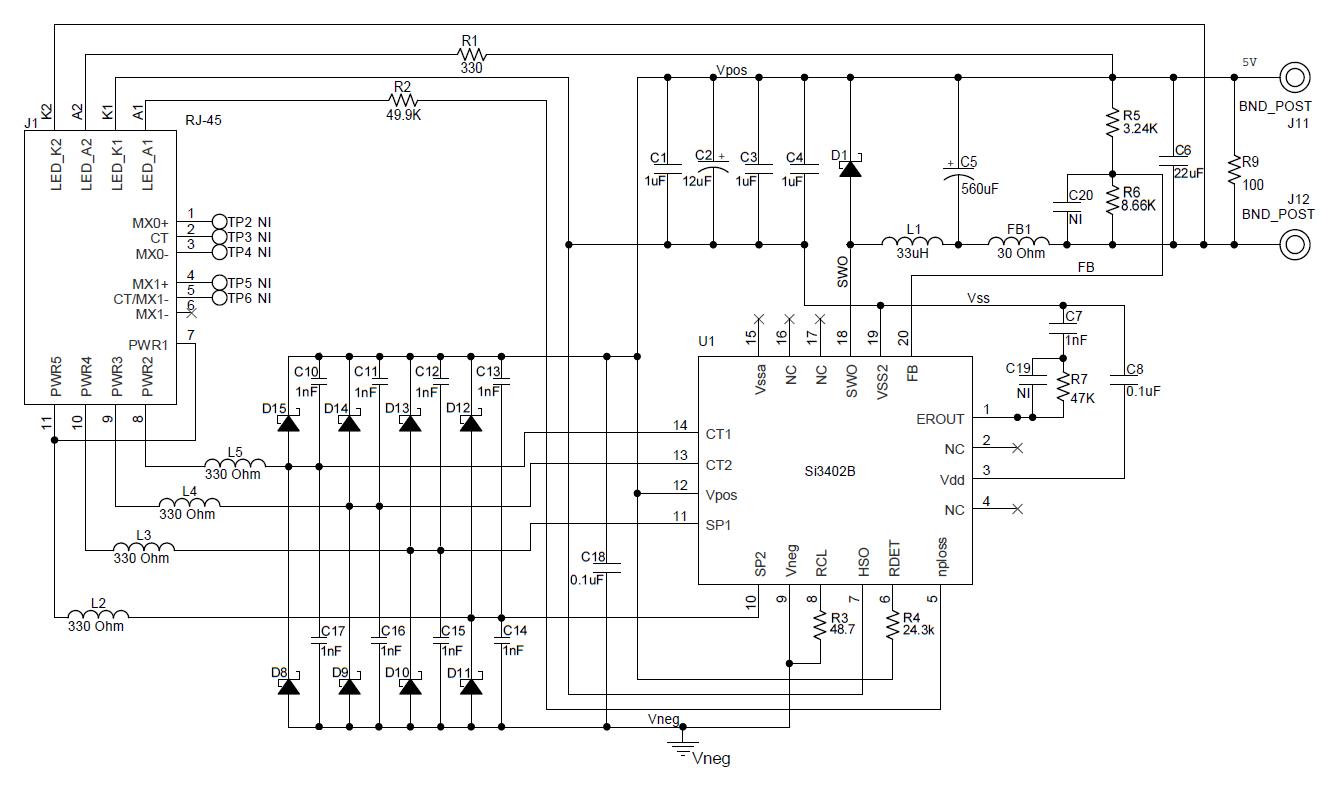 0v to 60v power supply circuit