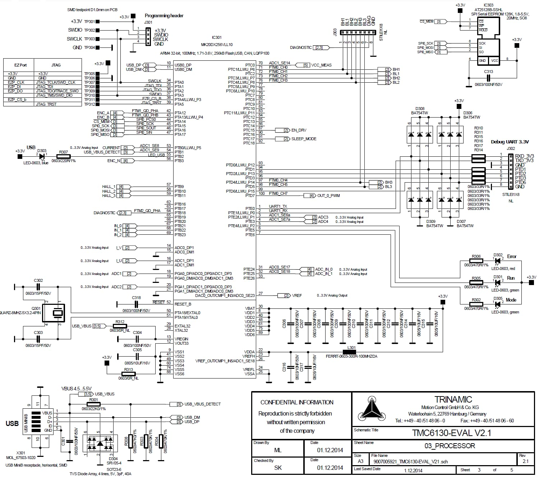 Tmc Eval 30a 6 30v 3 Phase Bldc Amp Pmsm