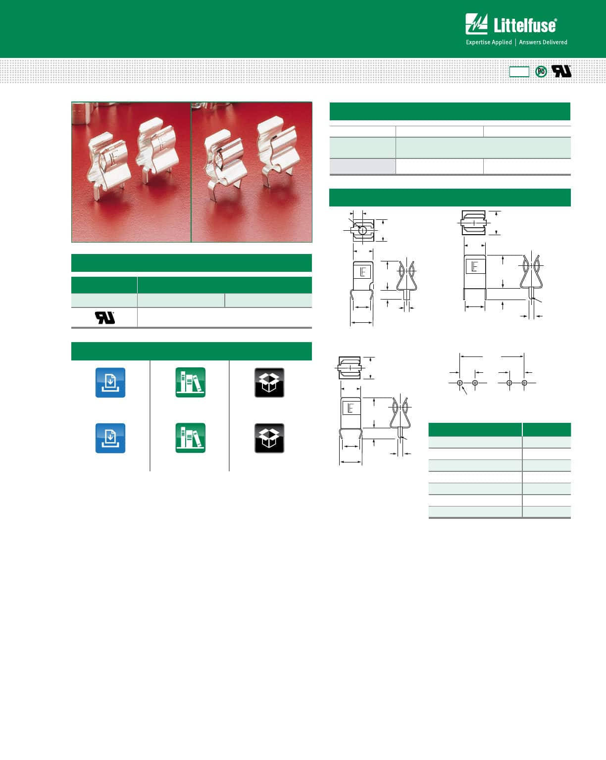 hight resolution of 102 122 series fuse clips datasheet