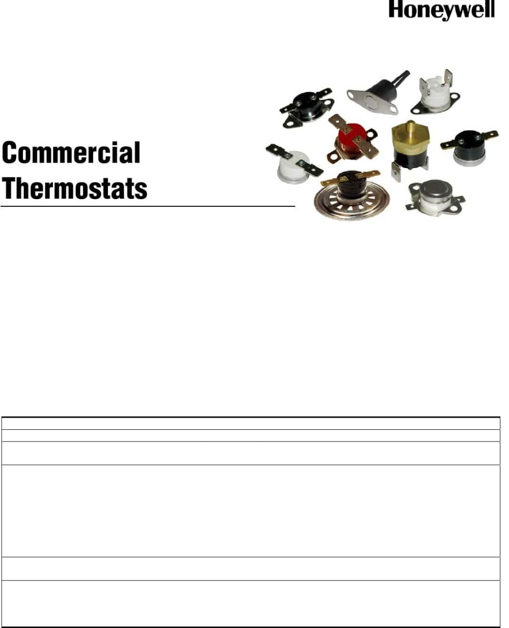 medium resolution of commercial thermostats datasheet