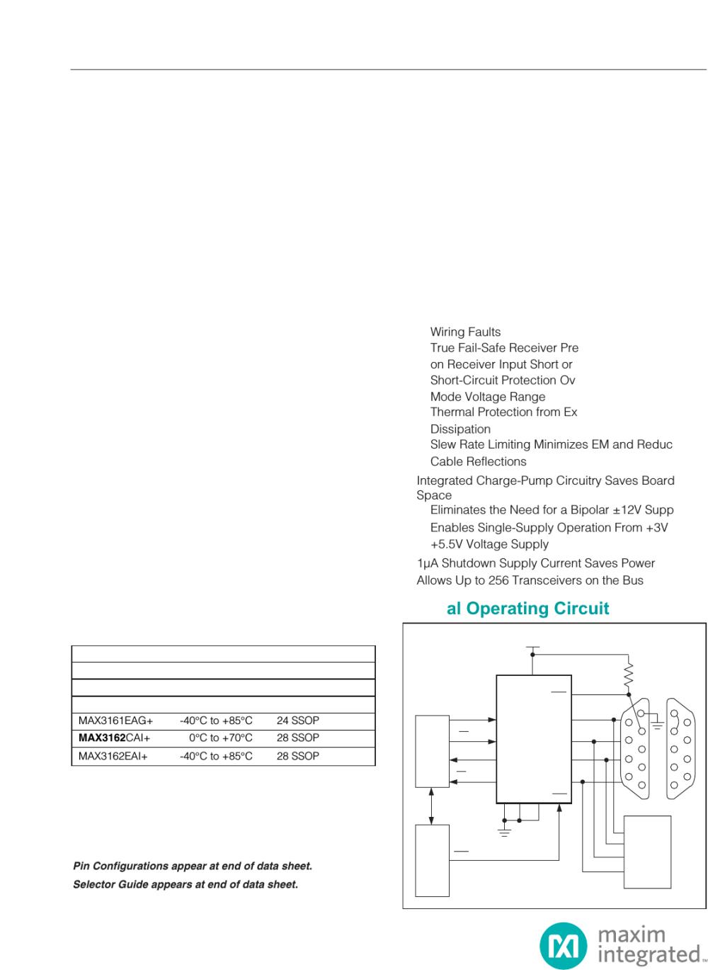 medium resolution of max3160 max3161 max3162 3 0v to 5 5v 1 a rs 232