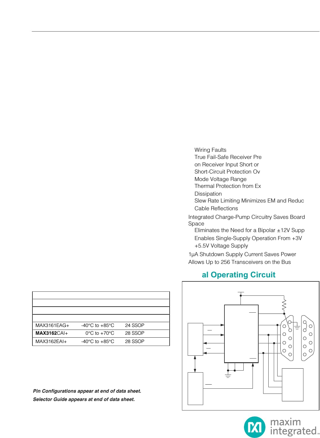 hight resolution of max3160 max3161 max3162 3 0v to 5 5v 1 a rs 232