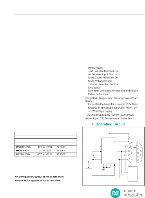 small resolution of max3160 max3161 max3162 3 0v to 5 5v 1 a rs 232