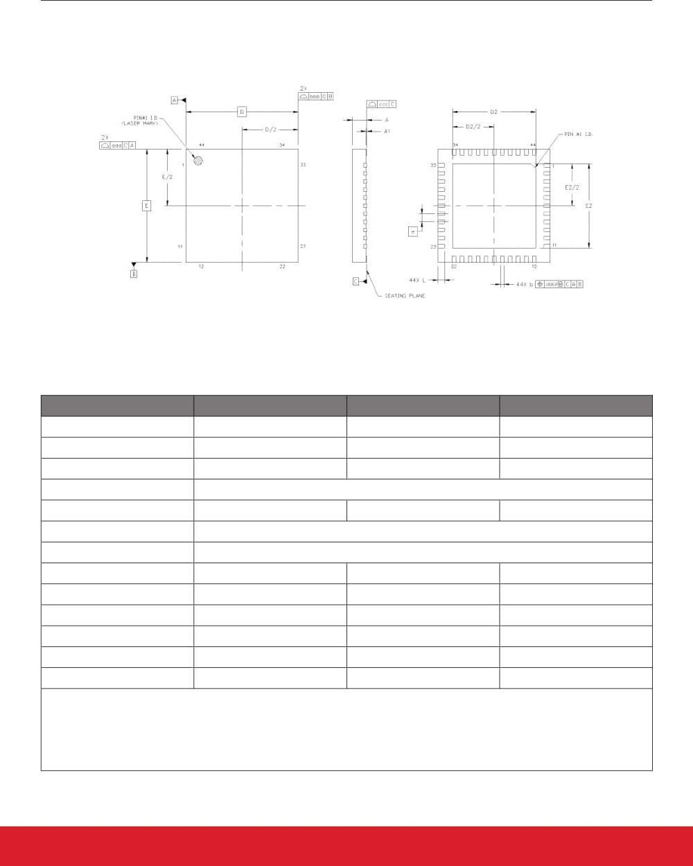 medium resolution of 10 2 si5340 7x7 mm 44 qfn package diagram