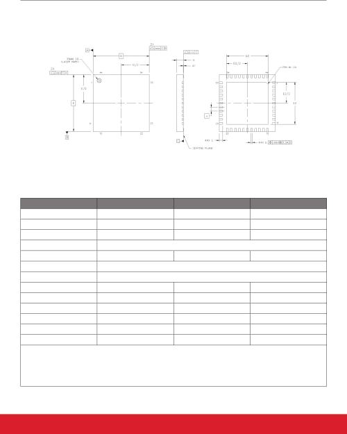 small resolution of 10 2 si5340 7x7 mm 44 qfn package diagram