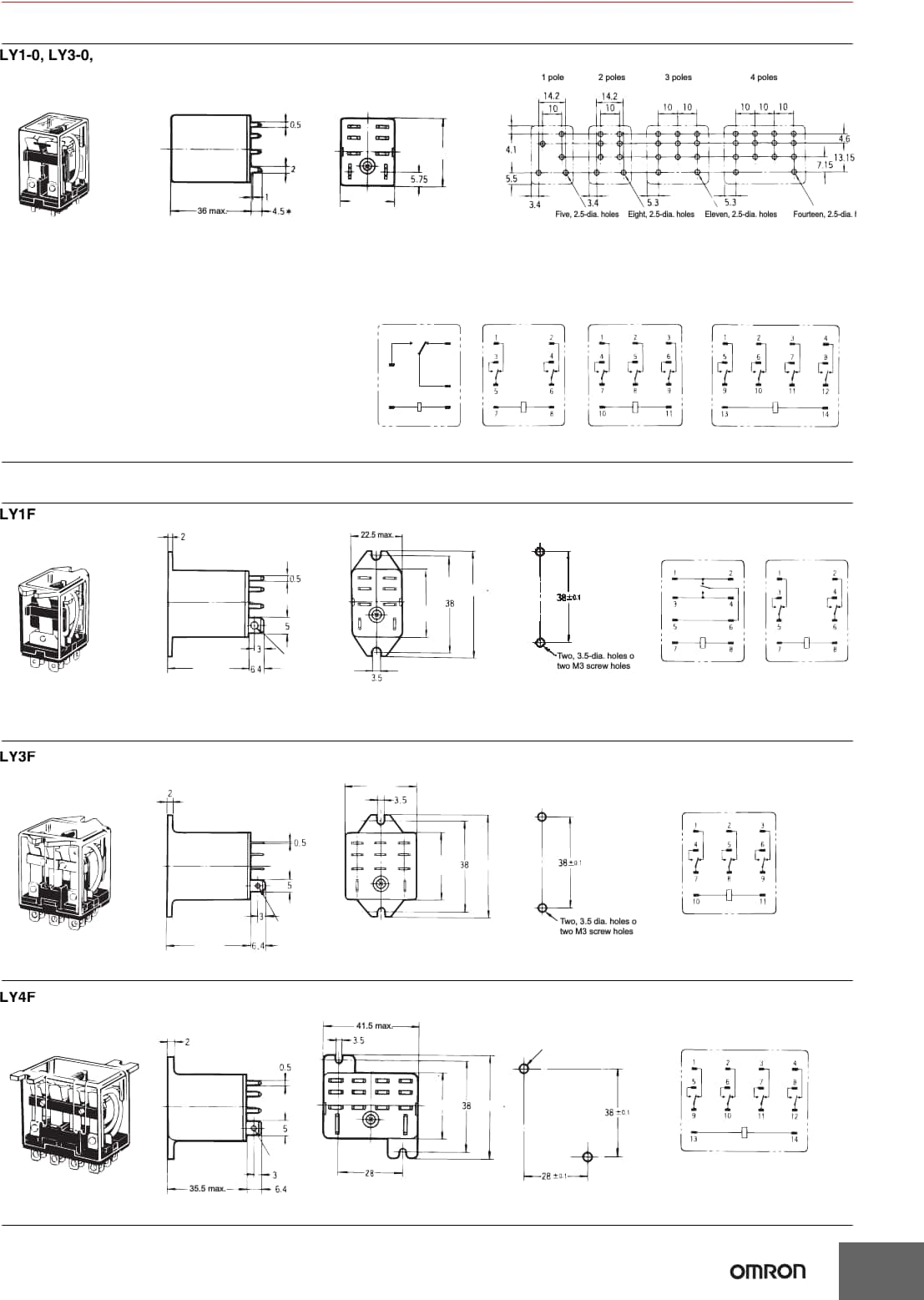 omron ly2n relay wiring diagram labeled of the hand ly series datasheet automation and safety digikey