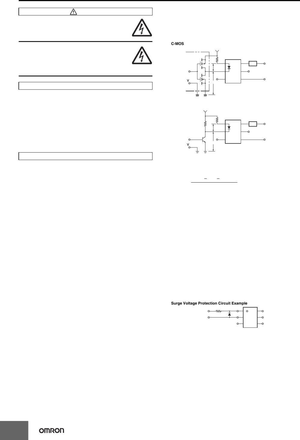 medium resolution of common precautions for all mos fet relays