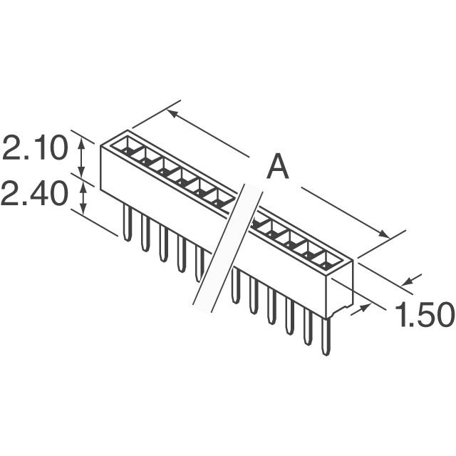 SFM210-LPSE-S10-ST-BK Sullins Connector Solutions