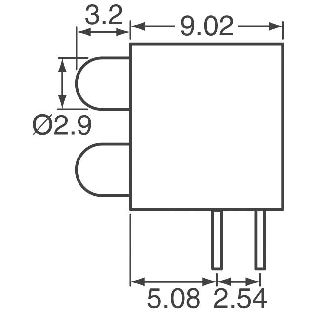 Bi-Level 3mm (T1) Single Color Right Angle LEDs