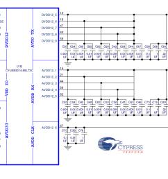 cy4603 4 port usb 3 0 hub digikey electronics usb hub schematic  [ 1547 x 666 Pixel ]