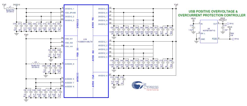 medium resolution of cy4603 4 port usb 3 0 hub digikey electronics usb hub schematic