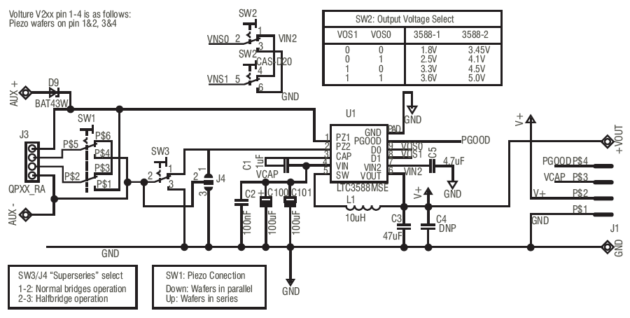 piezo energy harvesting circuit