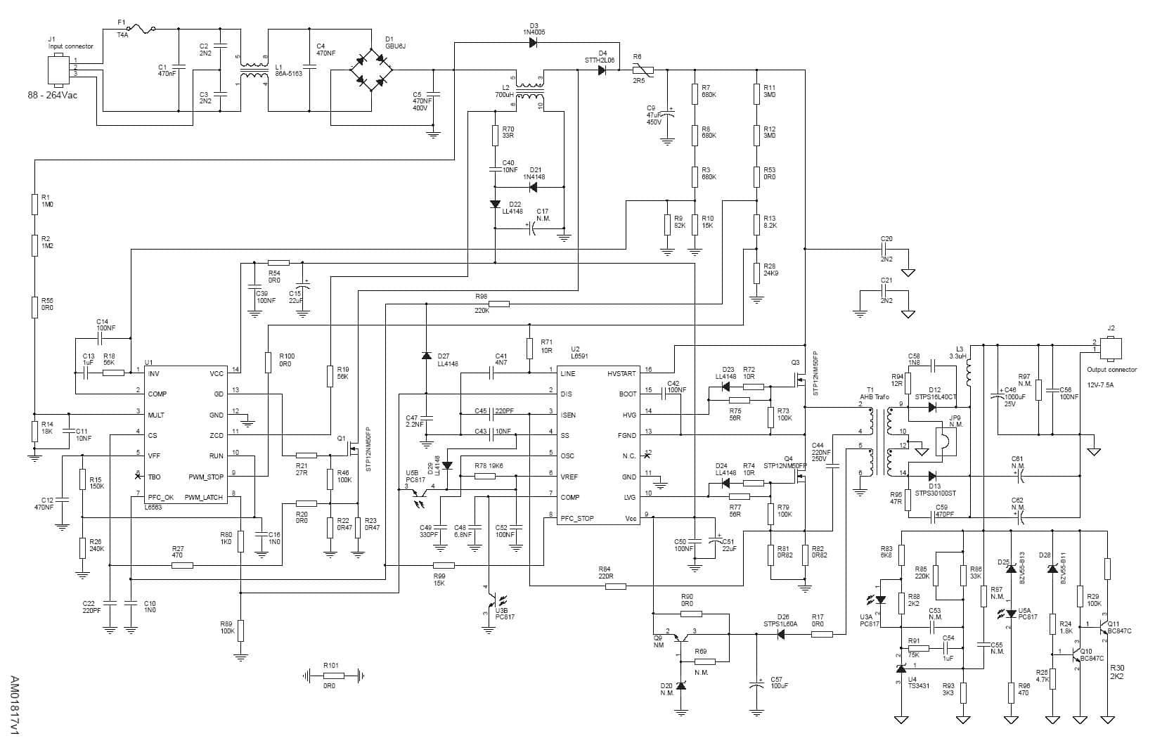 hight resolution of pfc wiring diagram wiring diagram ac dc nonisolated power supply with pfc gt 90w block diagrams